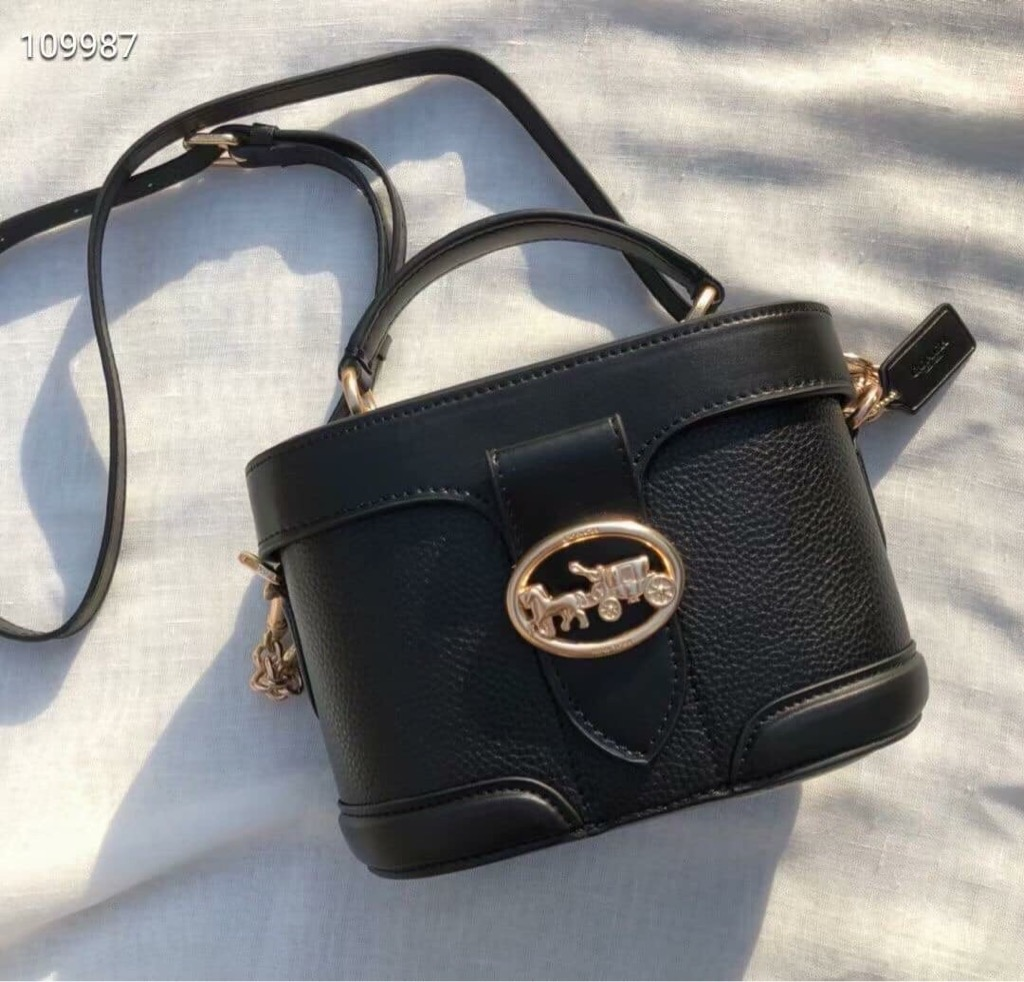 TÚI CO🅰️CH GEORGIE GEM CROSSBODY WITH RIVETS