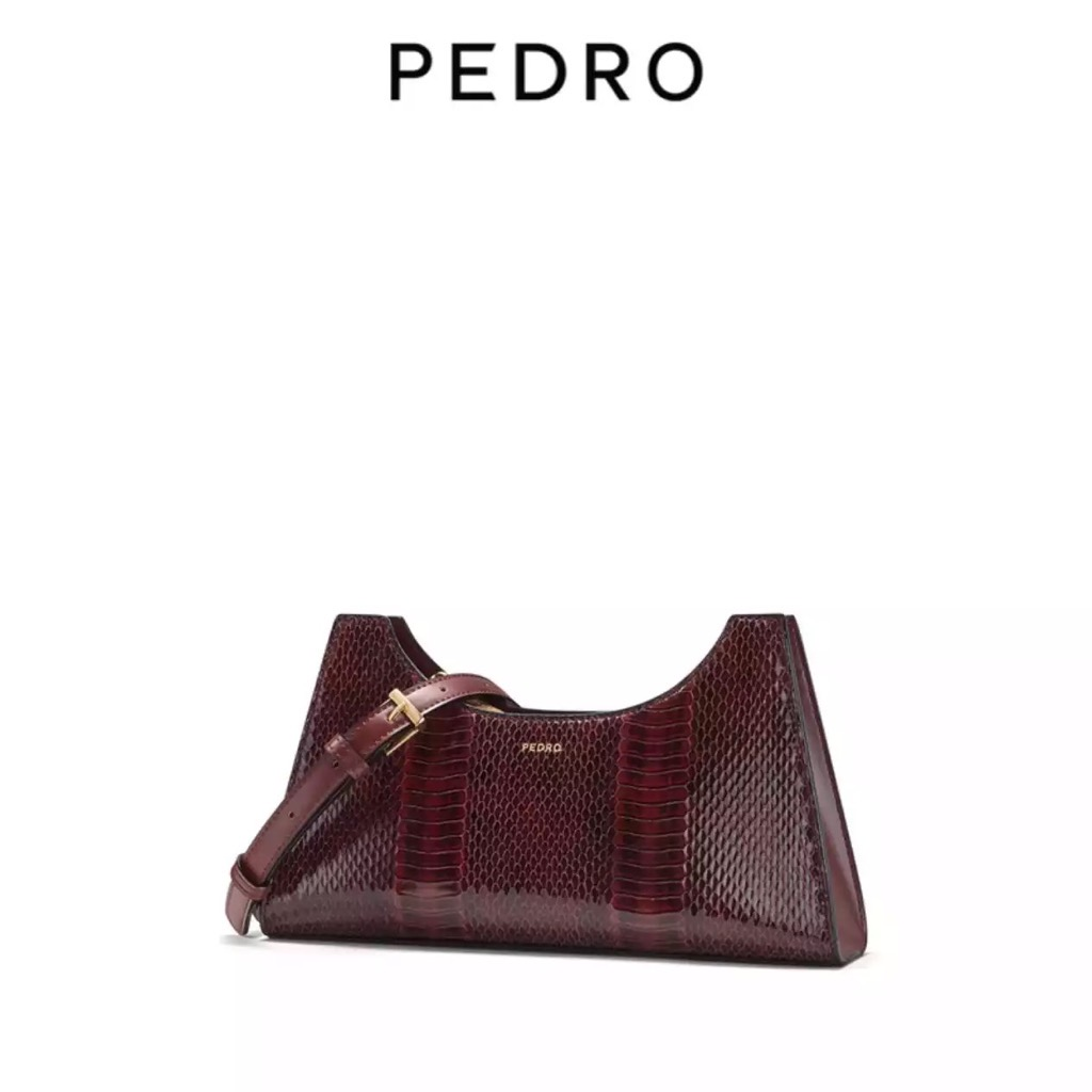 TÚI PEDR🅾️ SNAKE- EFFECT SHOULDER BAG