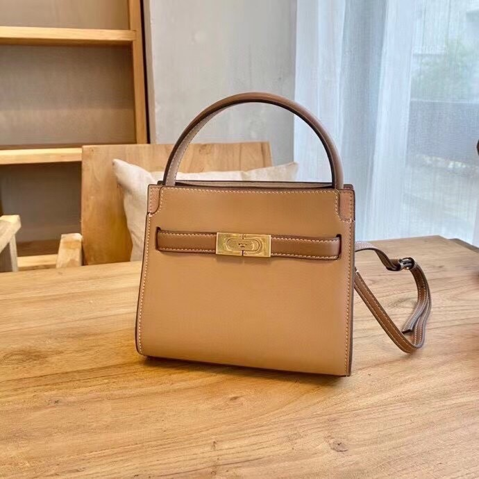 TÚI TB LEE PETITE DOUBLE BAG MINI BROWN