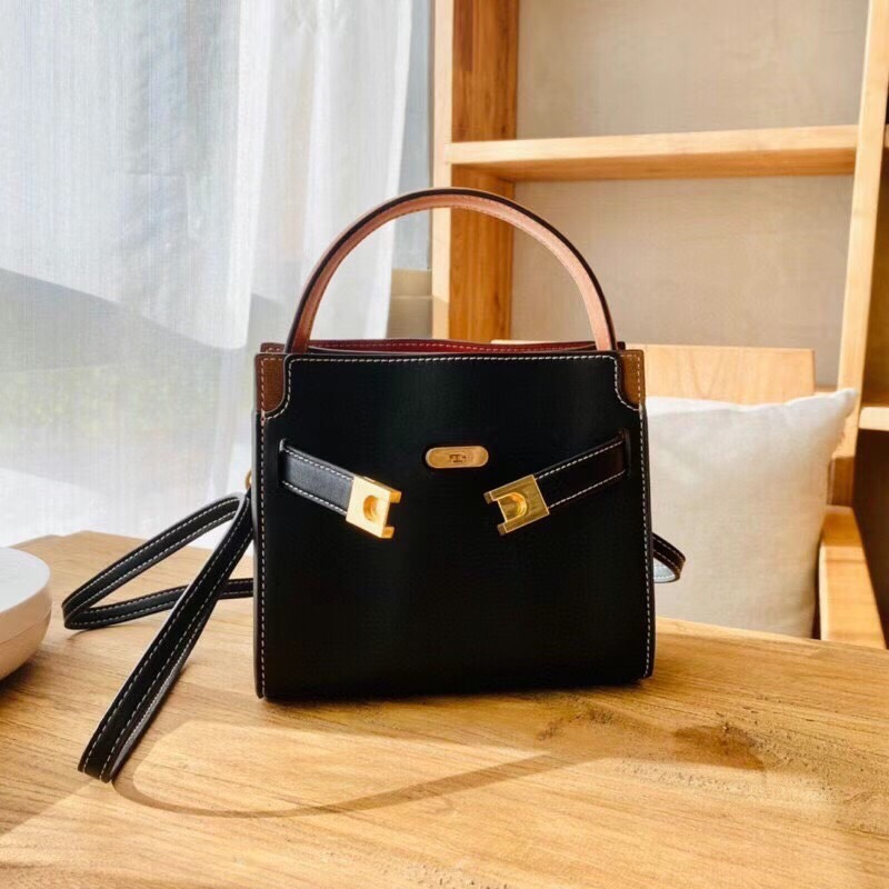 TÚI TB LEE PETITE DOUBLE BAG MINI BLACK