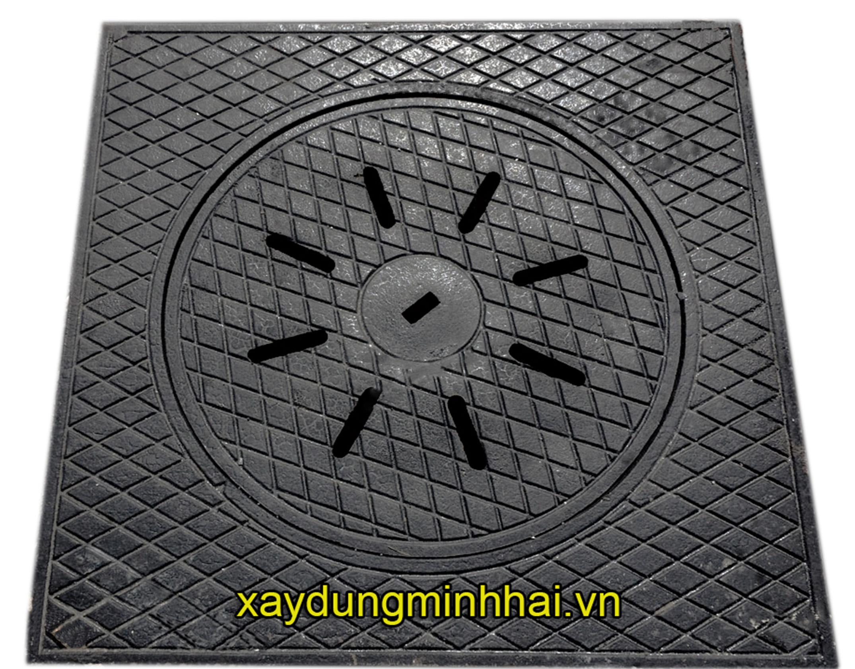 Nắp hố ga thân vuông KT: 900x900xØ650mm │Giá rẻ │Hàng có sẵn