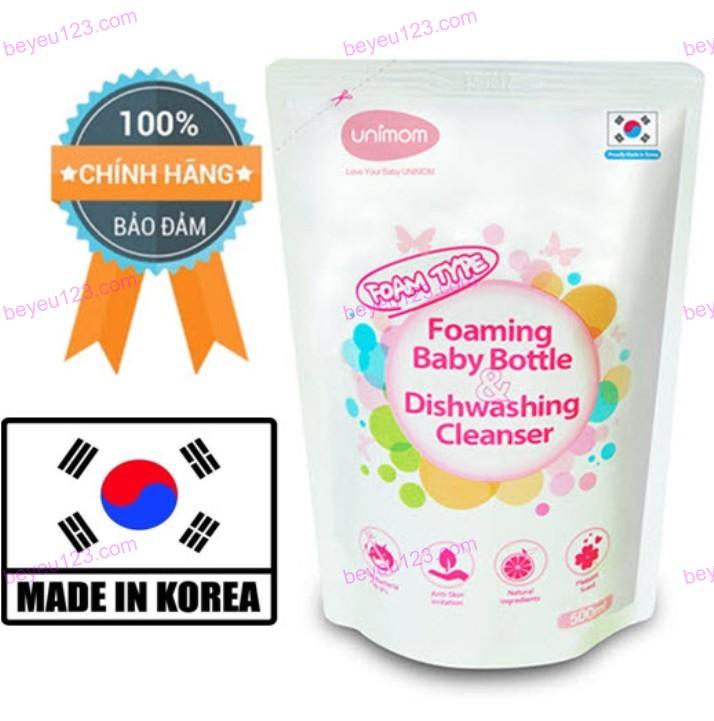 Túi Nước rửa bình sữa 500ml UNIMOM (Hàn Quốc)