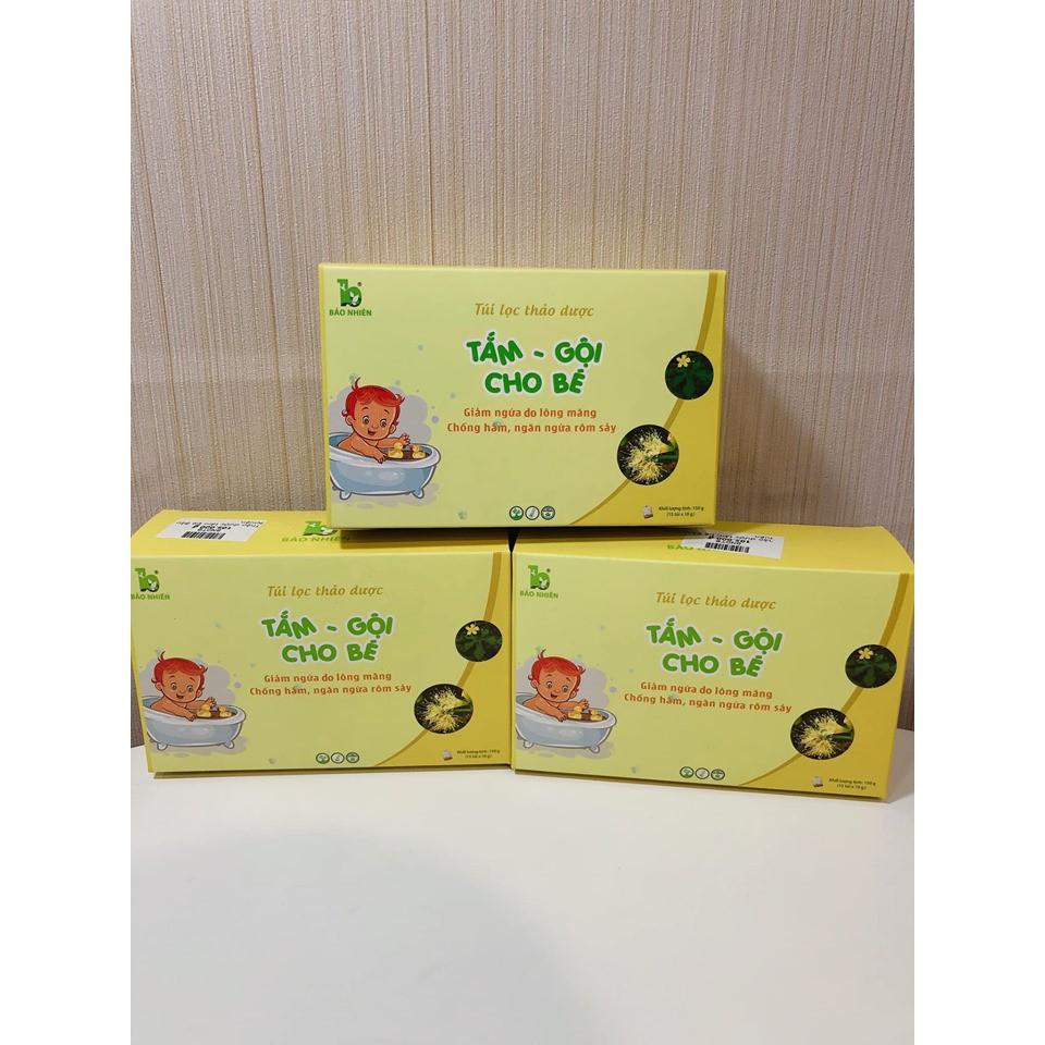 Hộp 15 Túi lọc thảo dược tắm bé Bảo Nhiên 150gr - Giảm ngứa do lông măng – ngừa rôm sảy – chống hăm - Việt Nam