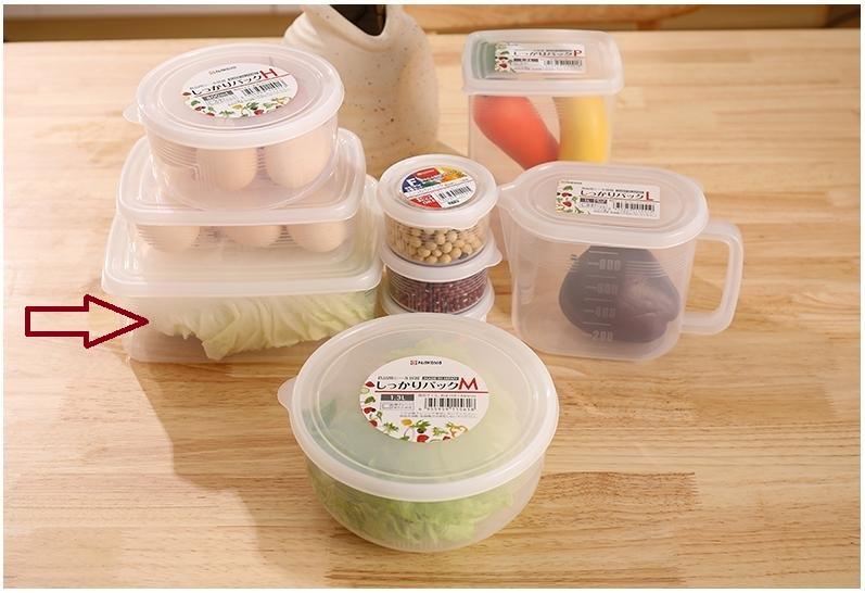 Hộp nhựa 2L đựng thực Phẩm , đồ ăn dặm nắp dẻo Nakaya - Made in Japan - KBN 15113
