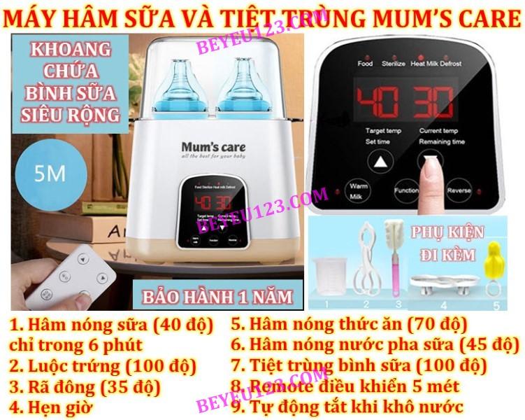 Máy hâm sữa - Tiệt trùng đa năng Mum's Care