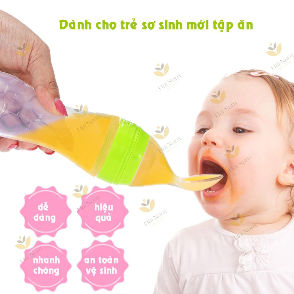 GB BABY- Bình thìa silicone mềm ăn bột- cháo 120ML cho bé