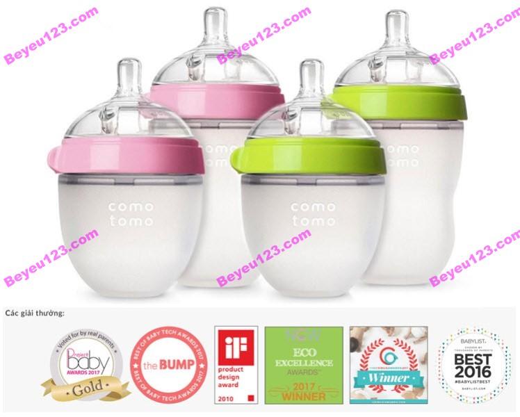 Bình sữa silicone mềm cao cấp 150ml Comotomo Hàn Quốc (Chính hãng cty Ánh Dương)