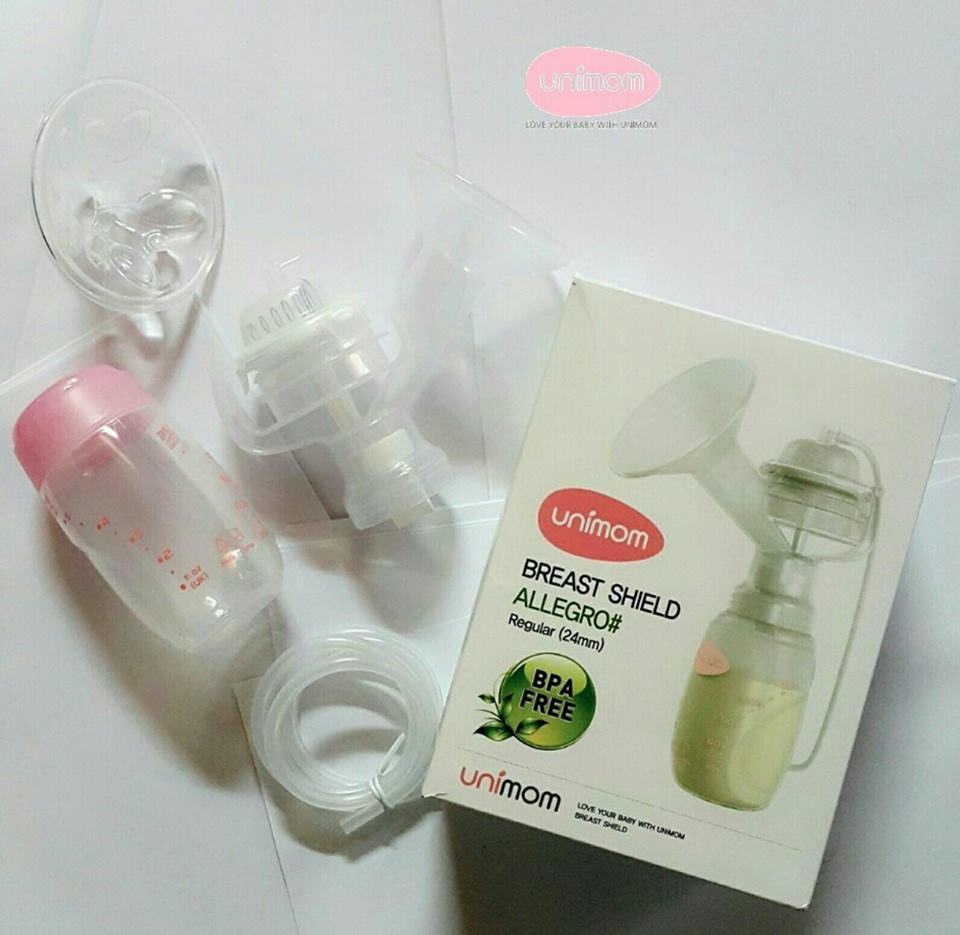 Bộ phụ kiện hút sữa đầy đủ Size M cho máy hút sữa điện Unimom Hàn Quốc 24mm