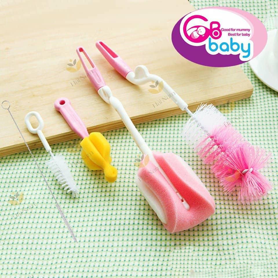 Bộ cọ 5 chi tiết phụ kiện vệ sinh bình sữa GB Baby