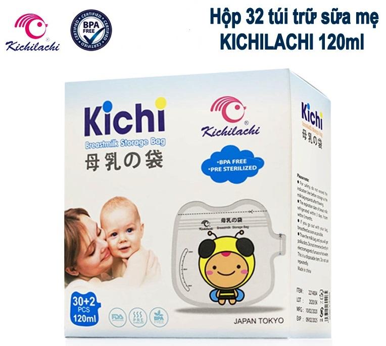 (Mẫu mới 2020) Hộp 32 túi trữ sữa Mẹ 120ml Kichilachi - Công Nghệ Nhật