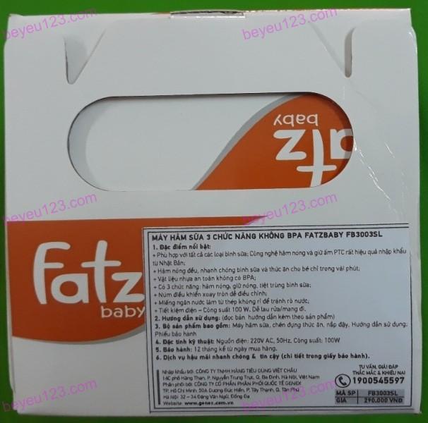 Máy hâm nóng sữa và thức ăn 3 chức năng Fatzbaby FB3003SL