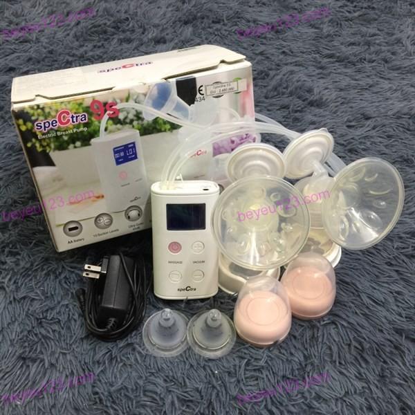 Máy hút sữa mẹ điện đôi Spectra 9S Hàn Quốc (tặng kèm áo hút sữa)