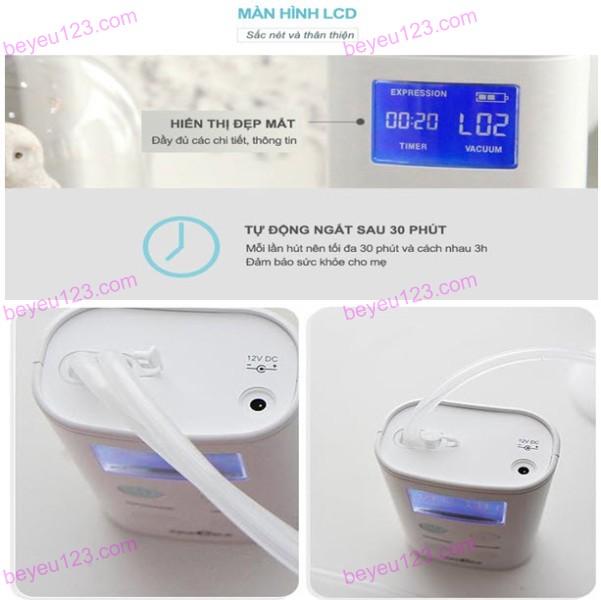 Máy hút sữa điện đôi cao cấp Spectra 9 Plus có pin sạc có màn hình LCD- Hàn Quốc (tặng kèm áo hút sữa)