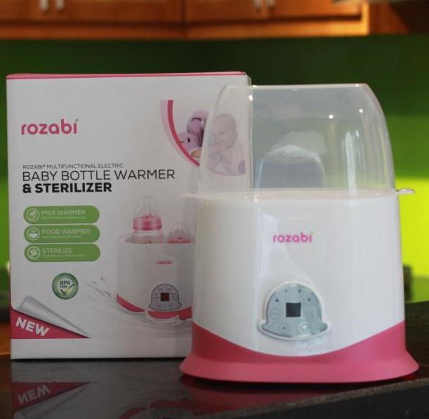 Máy hâm sữa và tiệt trùng cảm ứng 5 chức năng Rozabi (mẫu mới)