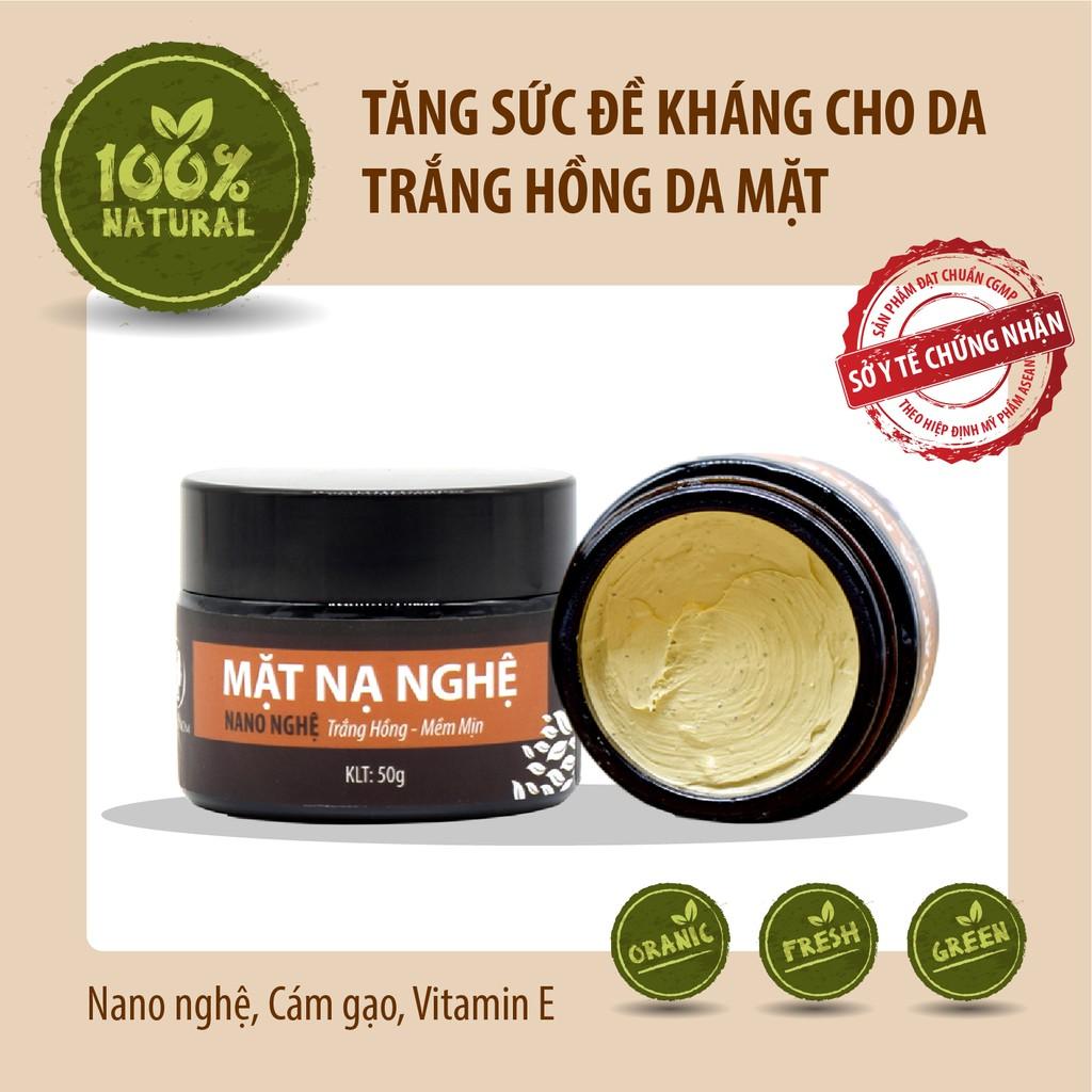Mặt nạ nghệ dưỡng da hữu cơ an toàn cho Mẹ trước và sau sinh 50gr Wonmom - Việt Nam