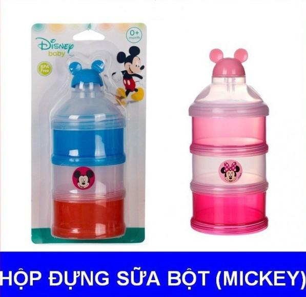 Hộp chia sữa bột 3 ngăn nắp bật Disney Baby - Thái Lan DN80514