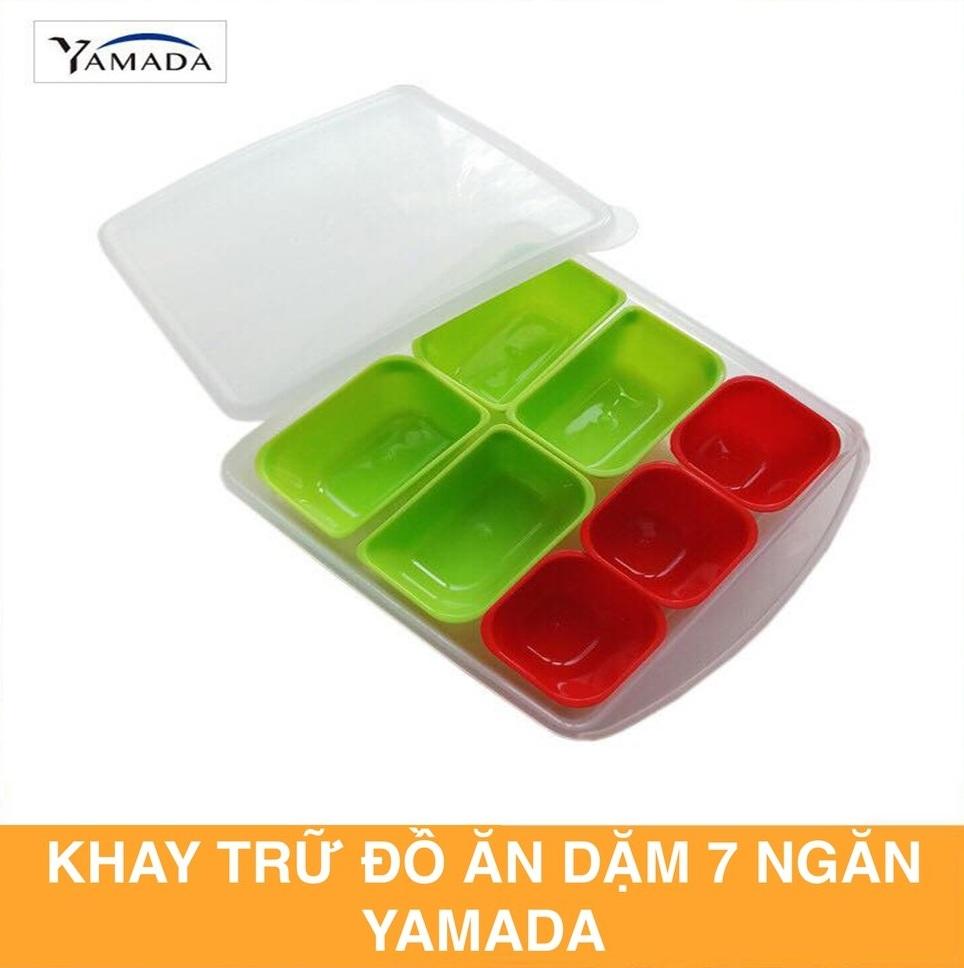 Khay trữ đông ăn dặm , thực phẩm 7 ngăn rời có nắp đậy YAMADA - KBN 868112 -  Made in Japan
