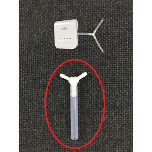 Spectra Q, M1 - Đầu nối chia 2 chữ T kèm ống silicone ngắn - phụ kiện nâng cấp máy hút sữa điện đơn thành đôi - Spectra