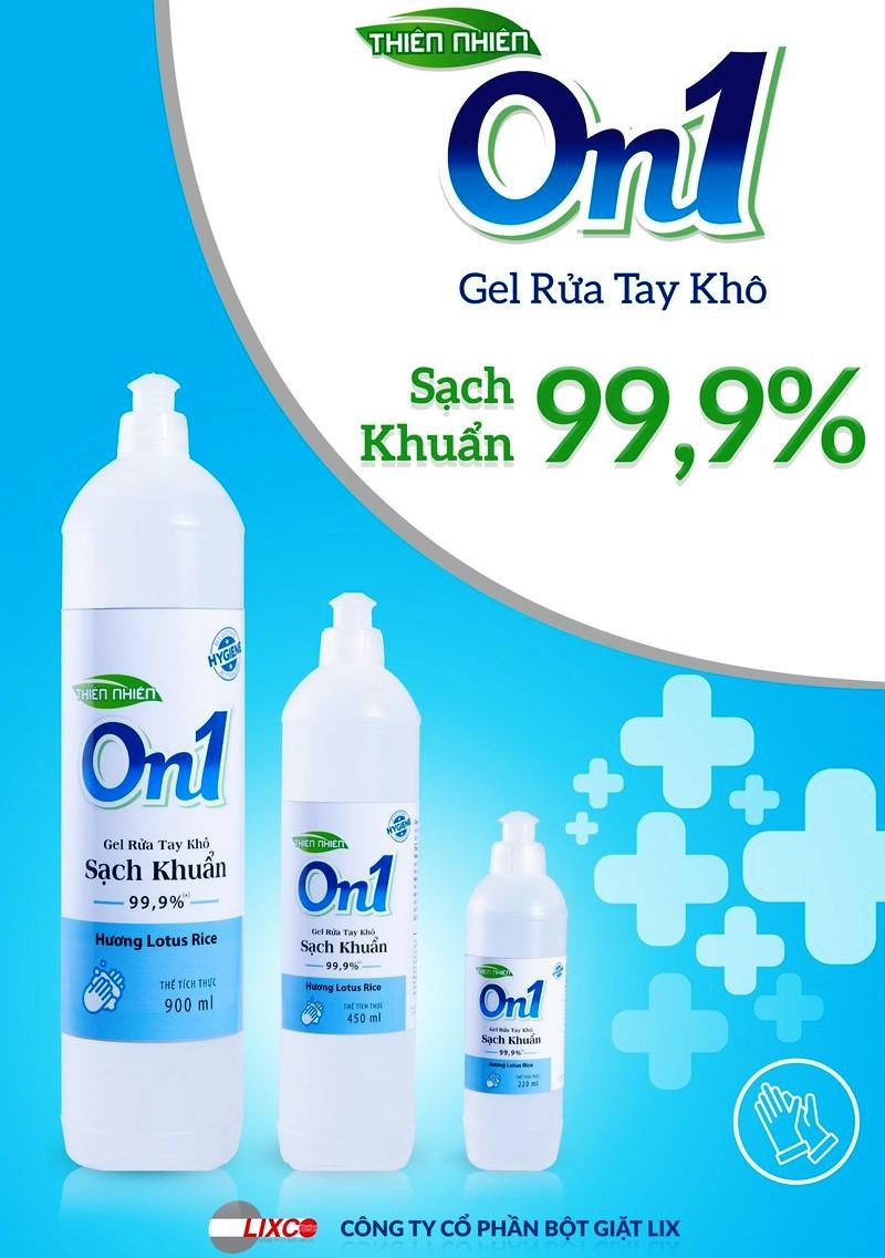 Gel rửa tay khô ON1 sạch khuẩn  -  LiX Việt Nam