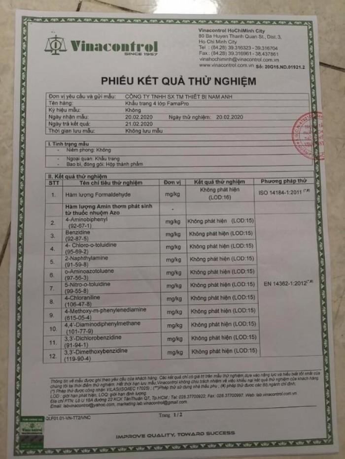 Hộp 10 khẩu trang y tế trẻ em Famapro - Nam Anh - Việt Nam - Không hoa văn