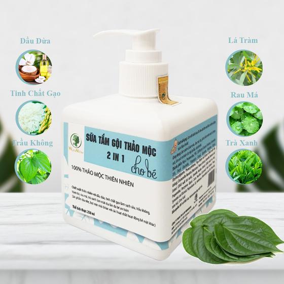 Sữa tắm gội thảo mộc cho bé Wonmom 250ml - Việt Nam