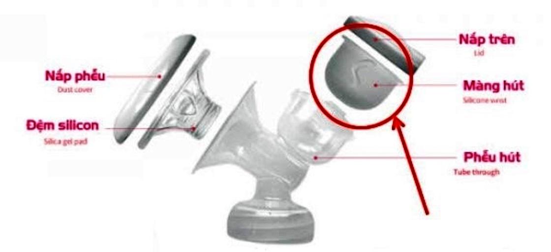 Cuống silicone Fatz FatzBaby - Phụ kiện thay thế cho máy hút sữa điện