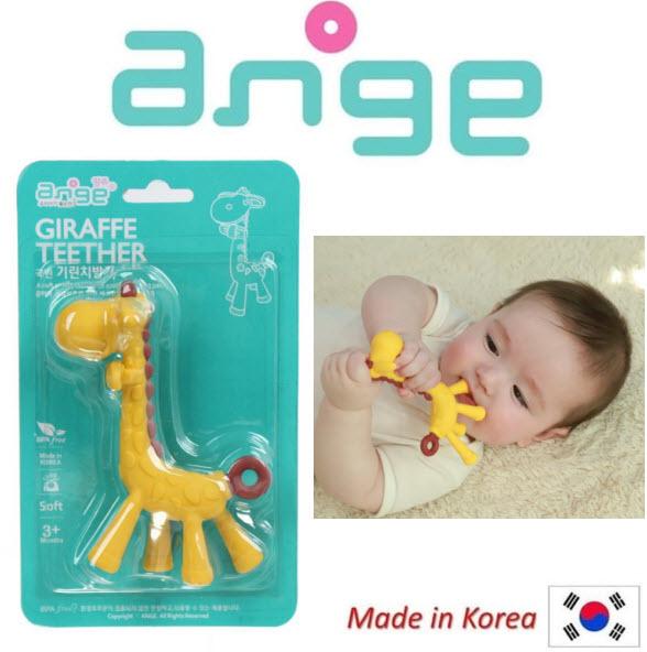 Ngậm nướu Ange hình hươu cao cổ không có BPA cho bé - Hàn Quốc - AG047