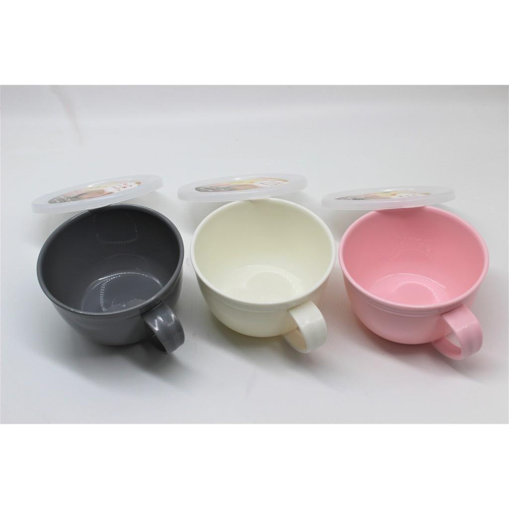 Cốc súp / cháo / nấu mì tôm có nắp đậy 360ml dùng lò vi sóng - Made in Japan - KBN 81419