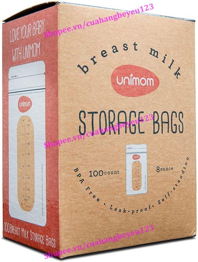 Hộp 50 túi trữ sữa mẹ cao cấp 250ml Unimom UM870503 - Hàn Quốc