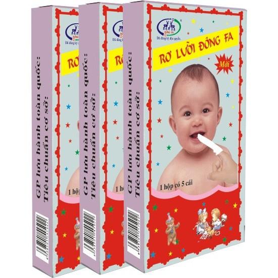 (15 cái) Combo 3 hộp Gạc vải rơ lưỡi Đông Fa vệ sinh miệng cho bé - Việt Nam