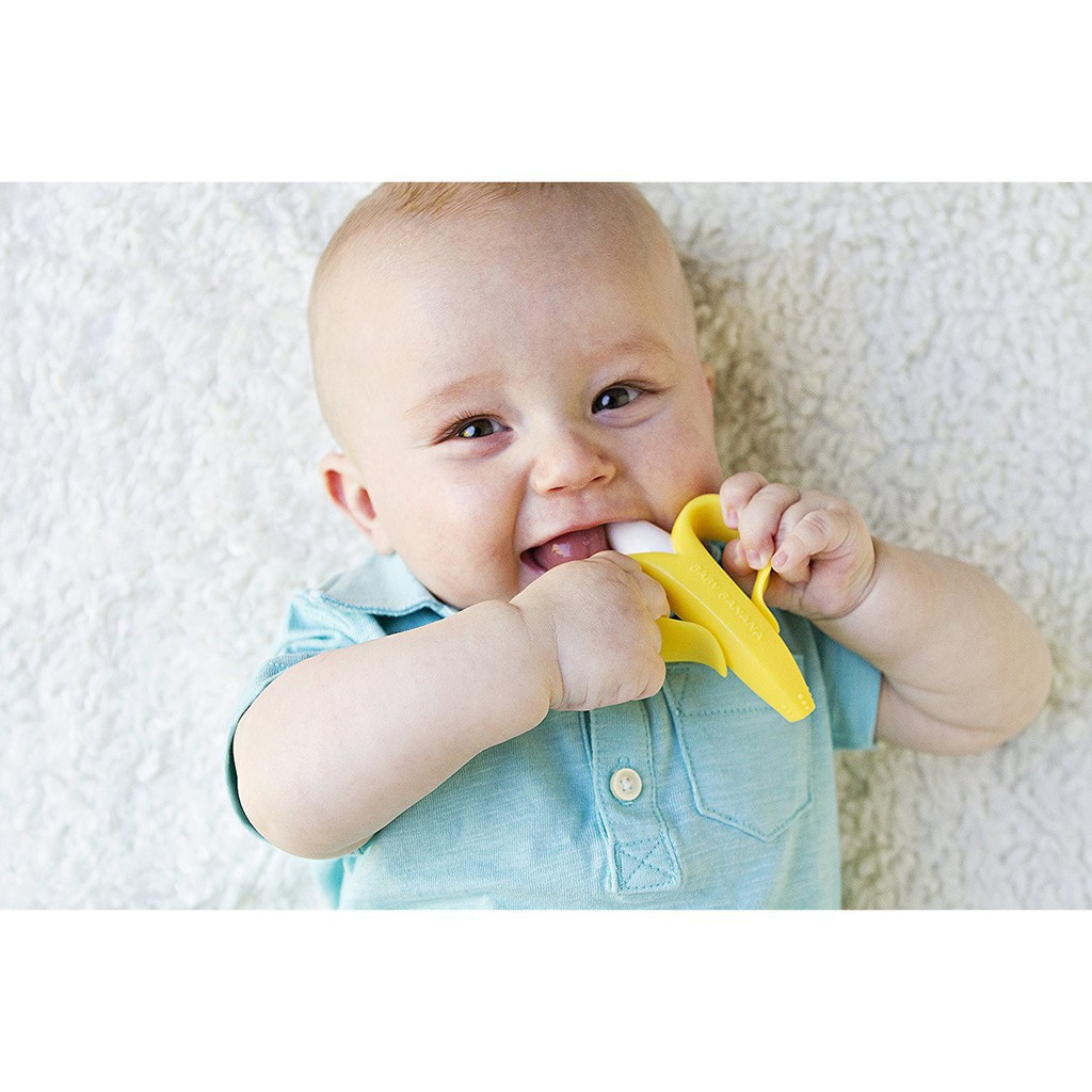 Kichilachi - Gặm chuối matxa silicone mềm an toàn cho bé