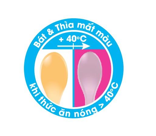 Thìa cảm ứng nhiệt TPR an toàn miệng cho bé UPASS (Thái Lan) - UP3021W