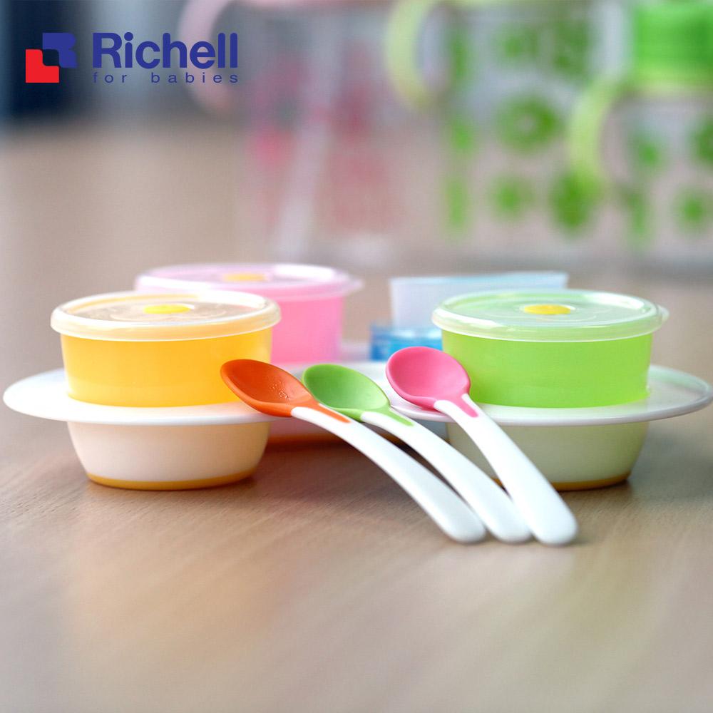 Bộ ăn dặm khởi đầu cho bé Richell Nhật (Chính hãng công ty Ánh Dương)
