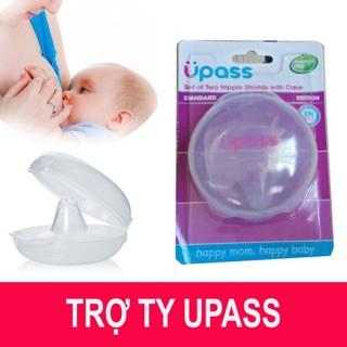 (Đầu ti nhọn) Hộp 02 cái trợ ti ngực silicone mềm cho Mẹ hỗ trợ cho bé bú Upass Thái Lan - UP1001N