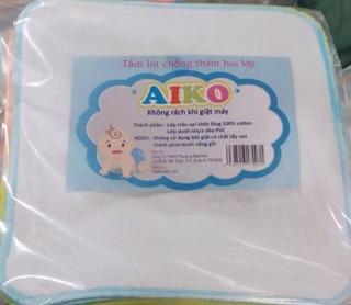 Set 8 tấm lót chống thấm Aiko cho bé Sơ sinh - 30x30cm