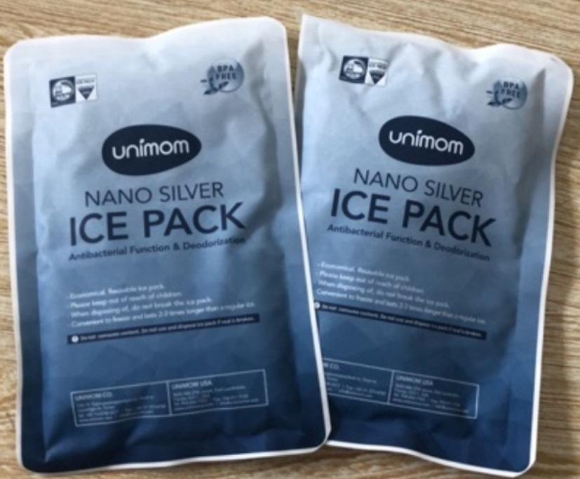 Túi đá gel khô giữ nhiệt lạnh trữ sữa mẹ, thực phẩm Unimom Hàn Quốc