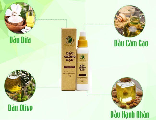 Bộ Dầu chống rạn và Kem sữa nghệ toàn thân phòng và trị thâm rạn da Wonmom - Việt Nam