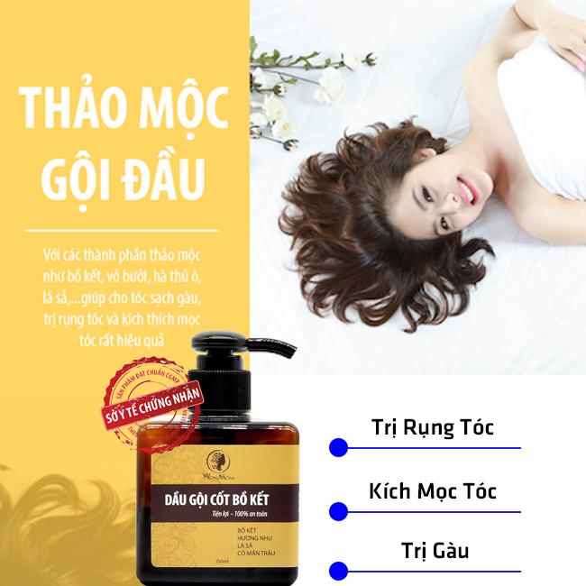 Dầu gội cốt bồ kết thảo dược WONMOM 250ml - An toàn cho Mẹ mang thai và sau sinh (Việt Nam)