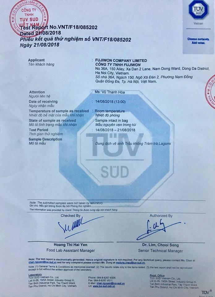 Dung dịch vệ sinh nữ Trầu không và Tràm trà 100% thiên nhiên Lagumi Việt Nam
