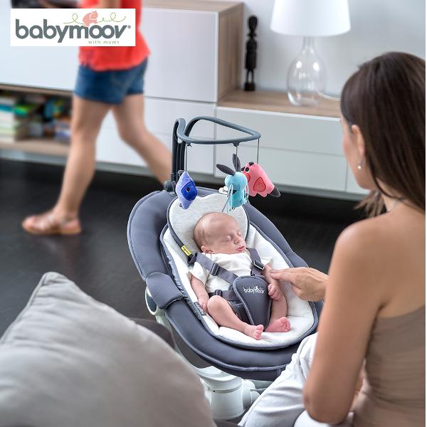 Gối nằm chống bẹt đầu an toàn cho bé LOVENEST BABYMOOV (PHÁP)
