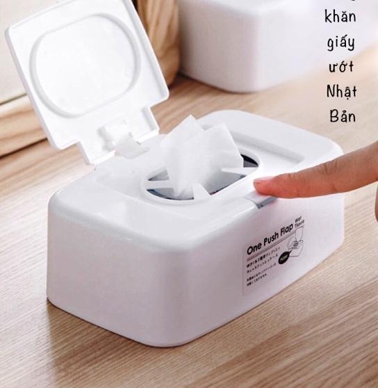 Hộp nhựa đựng khăn giấy ướt có nắp bật Yamada cho bé - Made in Japan - KBN52729