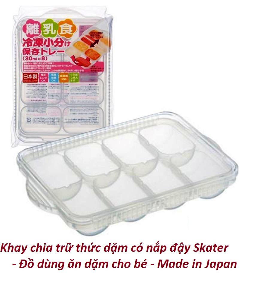 Khay chia trữ thức dặm có nắp đậy Skater - Đồ dùng ăn dặm cho bé - Made in Japan - KBN 47644 / 47668