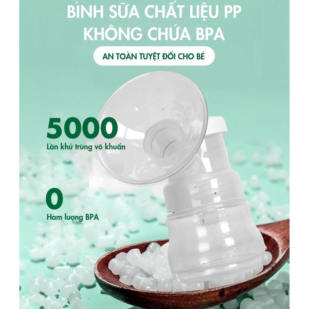 (Tặng kèm áo hút sữa) Máy hút sữa điện đôi Rozabi Basic Plus có tích pin sạc - Bảo hành chính hãng 12 tháng