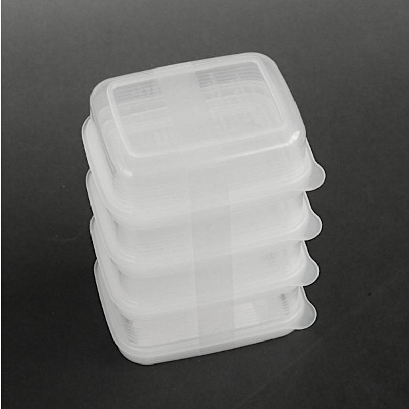 Set 4 hộp trữ thức ăn dặm , thực phẩm Nakaya - 100ml/hộp- cho bé - Made in Japan - KBN 120216
