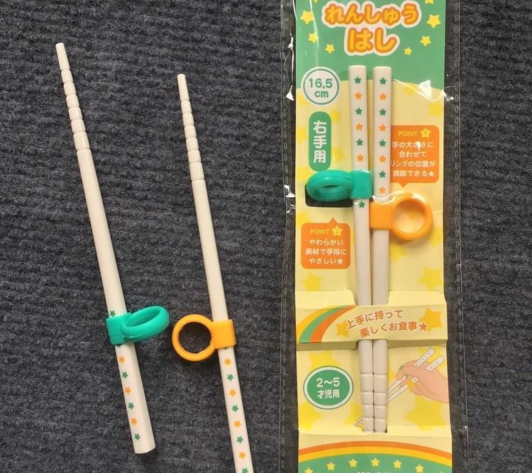 (Nhật) Đũa tập ăn xỏ ngón rời cho bé - Nakano - KBN