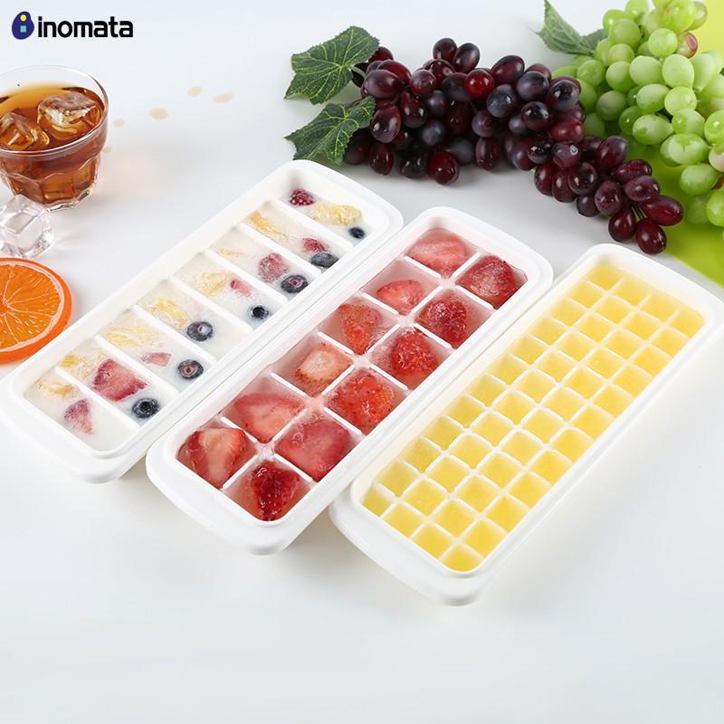 48 viên/khay - Combo 3 Khay đá có nắp đậy / trữ thức ăn dặm cho bé Inomata - Made in Japan - Nhật KBN 503262