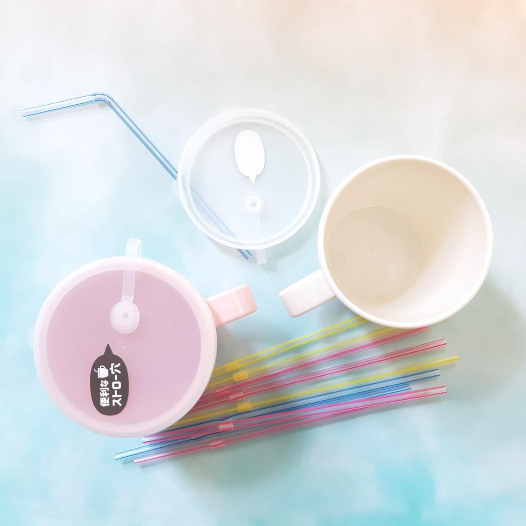 Ly / Cốc uống nước có lỗ cắm ống hút 300ml cho bé - Made in Japan - KBN 180092 / 180023 (không kèm ống hút)
