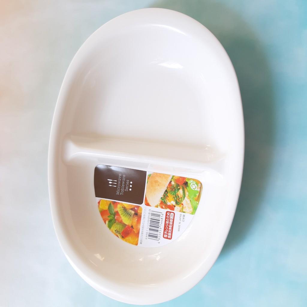 Khay ăn dặm chia 2 ngăn cho bé Nakaya Nhật Bản - Made in Japan - KBN 44816