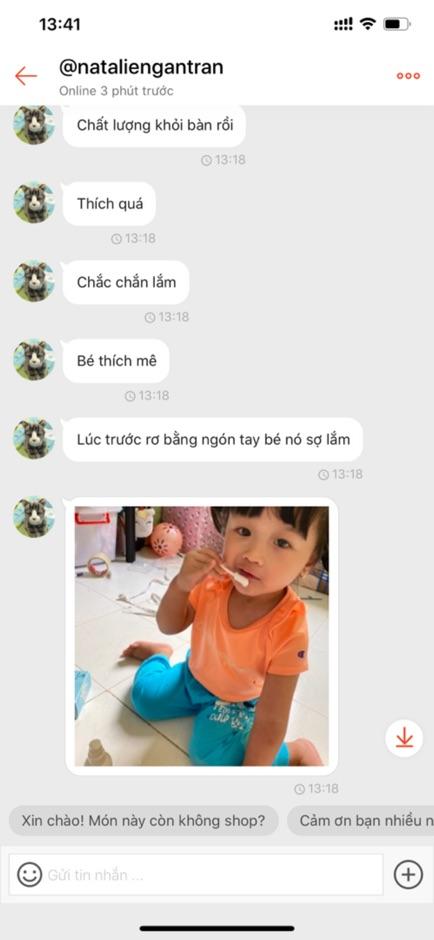 Hộp 30 Que gạc rơ lưỡi , tưa lưỡi Kichilachi vệ sinh răng miệng cho bé - Việt Nam
