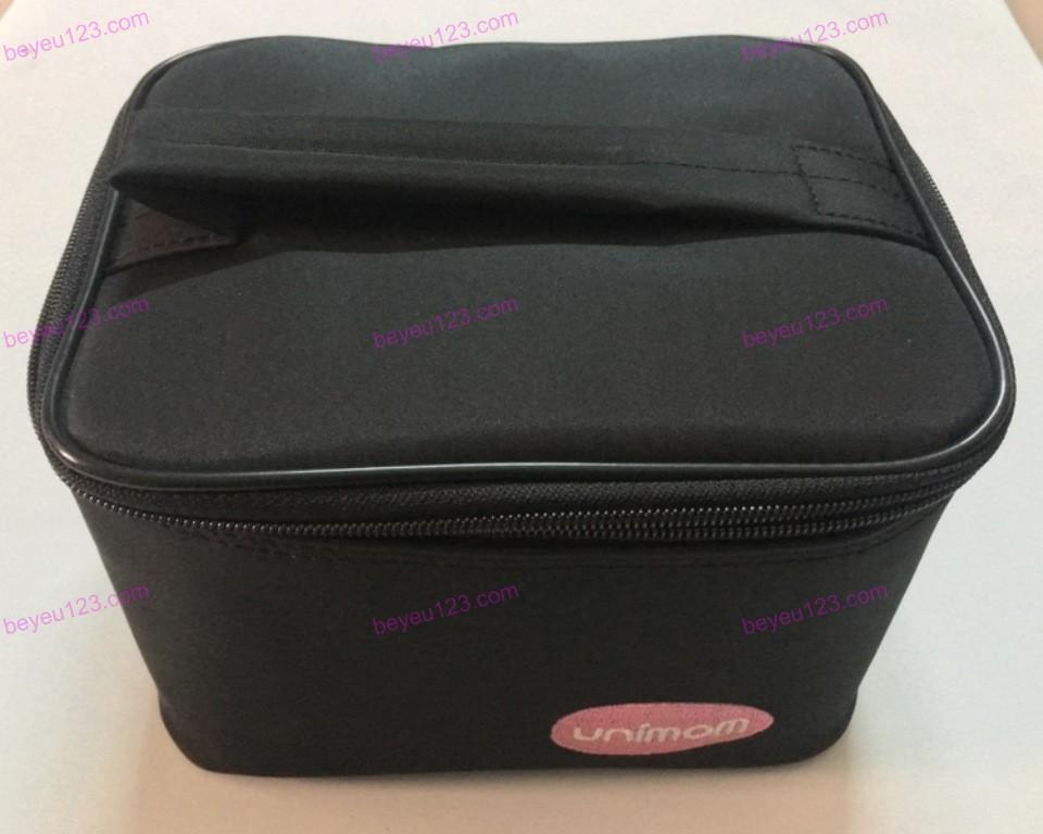 Bộ túi giữ nhiệt kèm 5 bình trữ sữa mẹ 150ml và 2 đá khô UNIMOM Hàn Quốc
